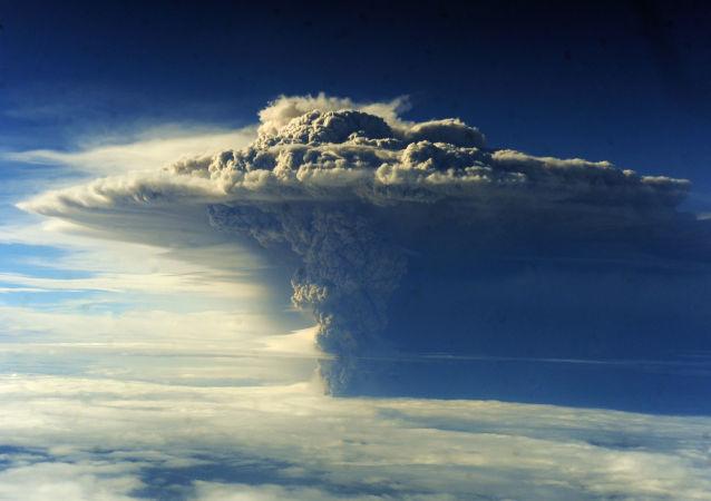 Vulcão Puyehue, situado na Cordilheira dos Andes, sul do Chile