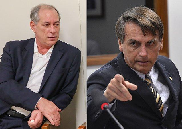 Ciro Gomes e Bolsonaro podem passar a dividir os holofotes na corrida presidencial.