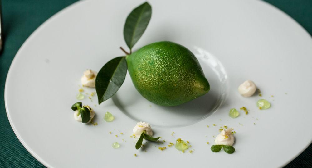 Cidra verde do restaurante da cozinha russa Café Pushkin