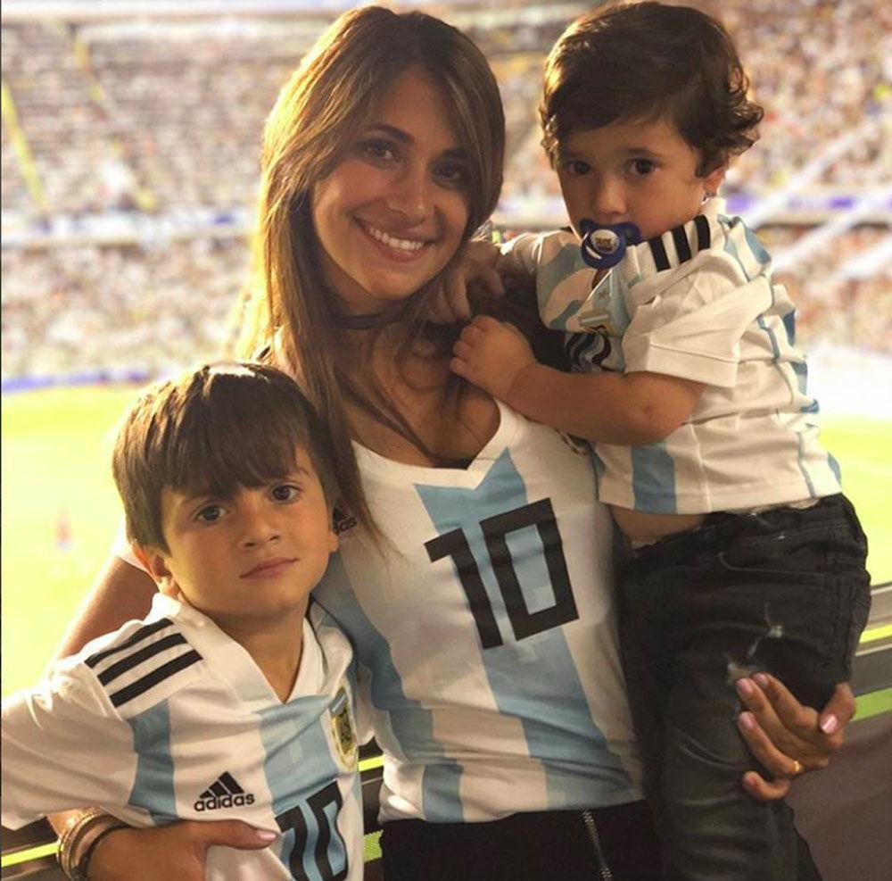 Antonella Roccuzzo, esposa do capitão da Seleção Argentina e do clube Barcelona, Lionel Messi