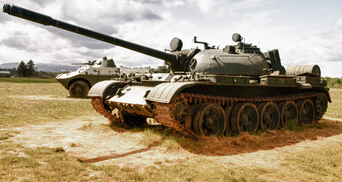 Tanque Т-55 (foto de arquivo)