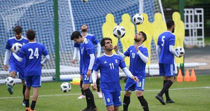 Treinamento do Irã na Copa do Mundo da Rússia.