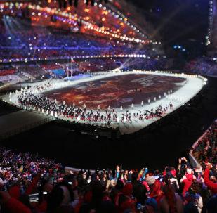 Cerimônia de abertura das Olimpíadas de Sochi, em 2014 (foto de arquivo)