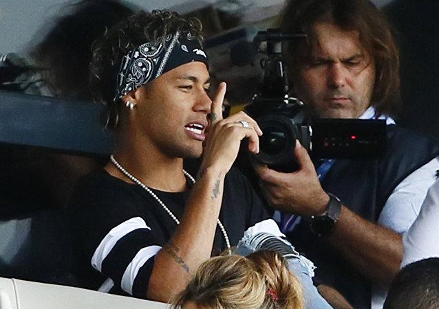 Neymar no estádio parisiense Parc des Princes, agosto de 2017
