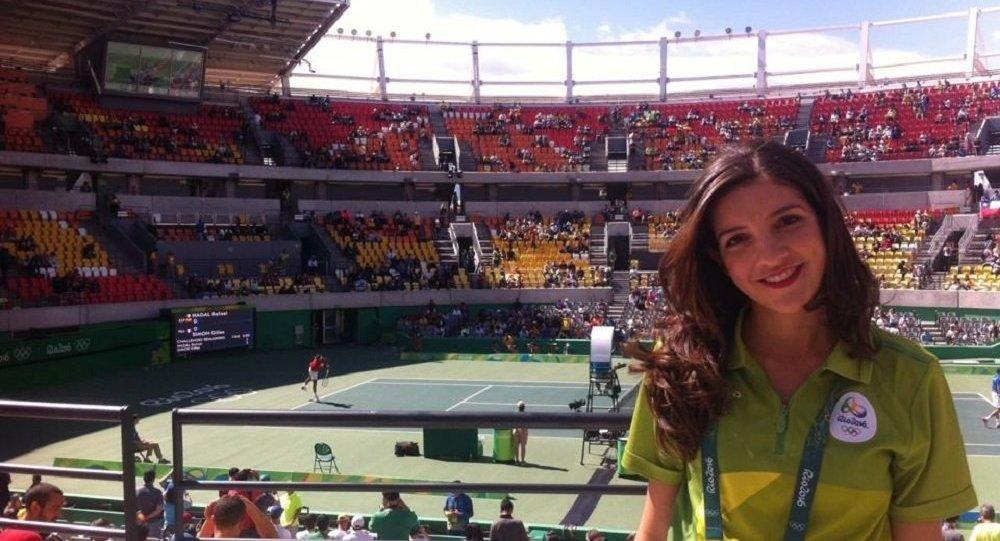 Letícia Avelina, voluntária brasileira na Copa do Mundo 2018
