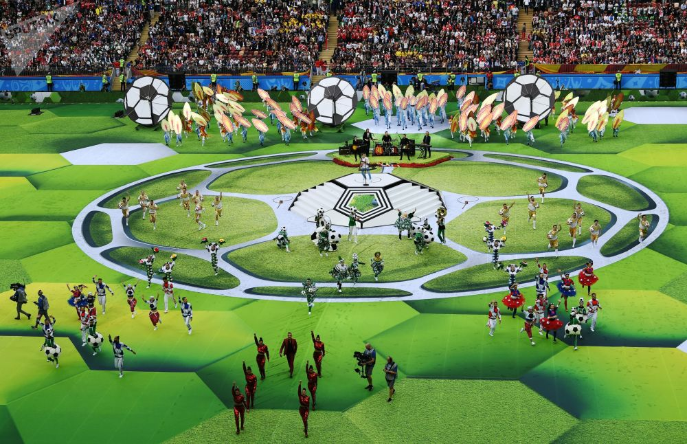 Show da cerimônia de abertura da Copa do Mundo de 2018 no estádio Luzhniki