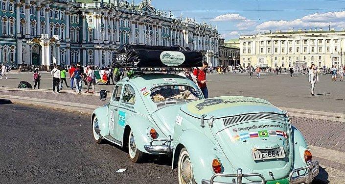 Expedição Fuscamérica em São Petersburgo.