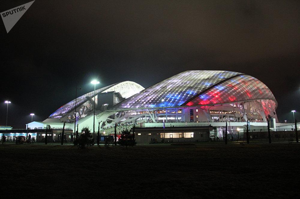 Estádio Fisht durante o jogo Portugal-Espanha, em Sochi, em 15 de junho de 2018