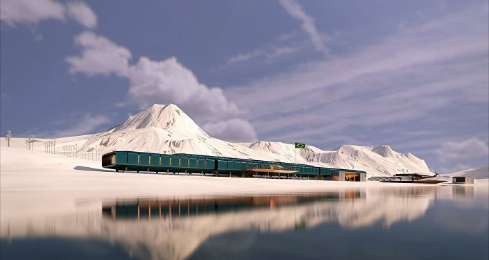 Base brasileira na Antártida.