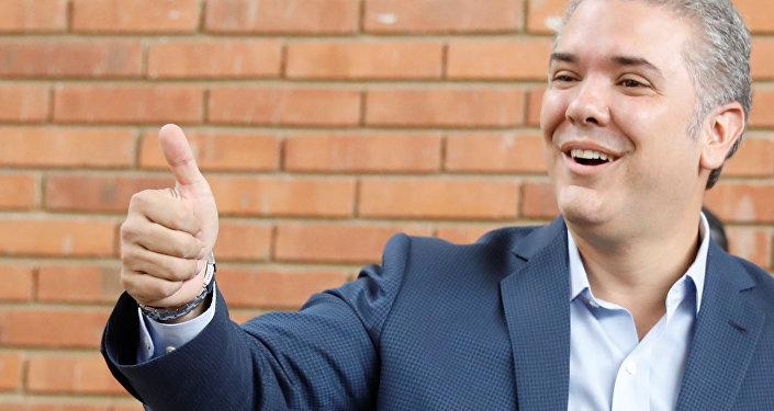 Iván Duque, presidente eleito da Colômbia