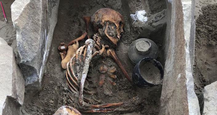 Múmia encontrada no sepulcro de Terezin, Sibéria russa