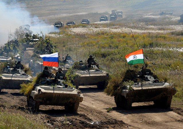 Treinamentos russo-indianos Indra-2016 na região russa de Primorie, 30 de setembro de 2016