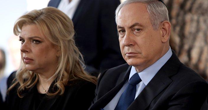 Israeli Prime Minister Benjamin Netanyahu with his wife, Sara
