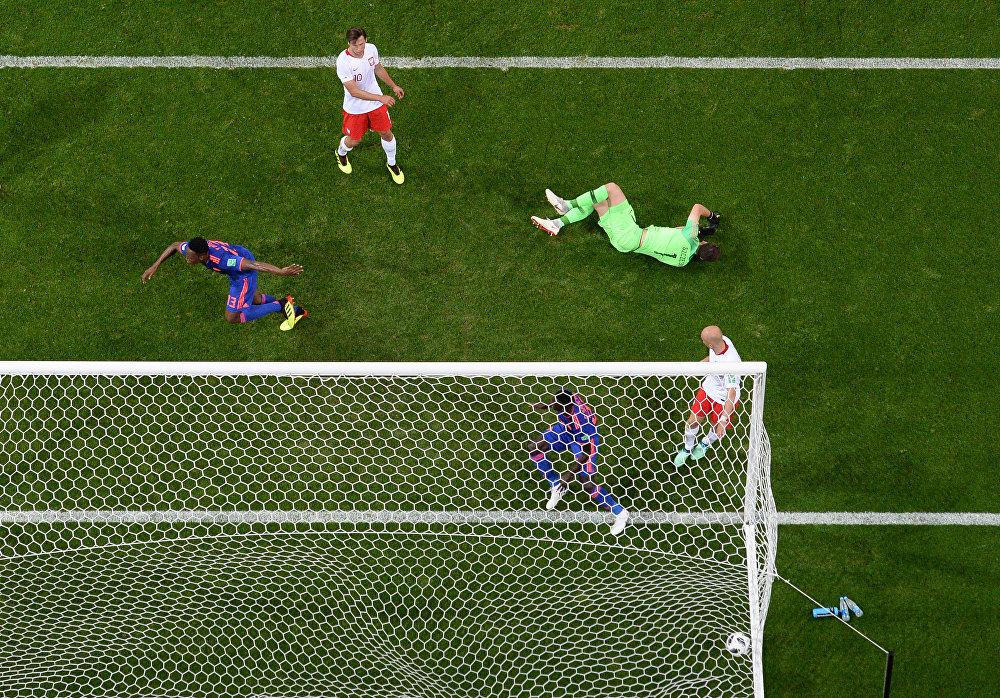 Jogo entre Polônia e Colômbia pelo grupo H da Copa do Mundo 2018 da Rússia