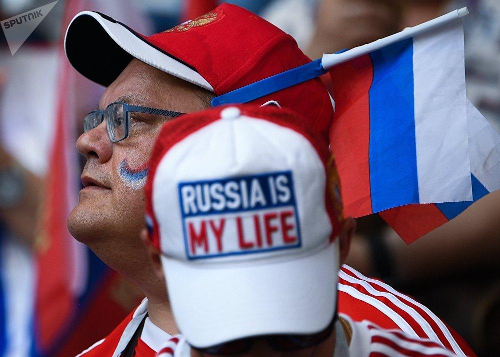 Torcedores russos empurram a seleção apesar da derrota para o Uruguai em Samara