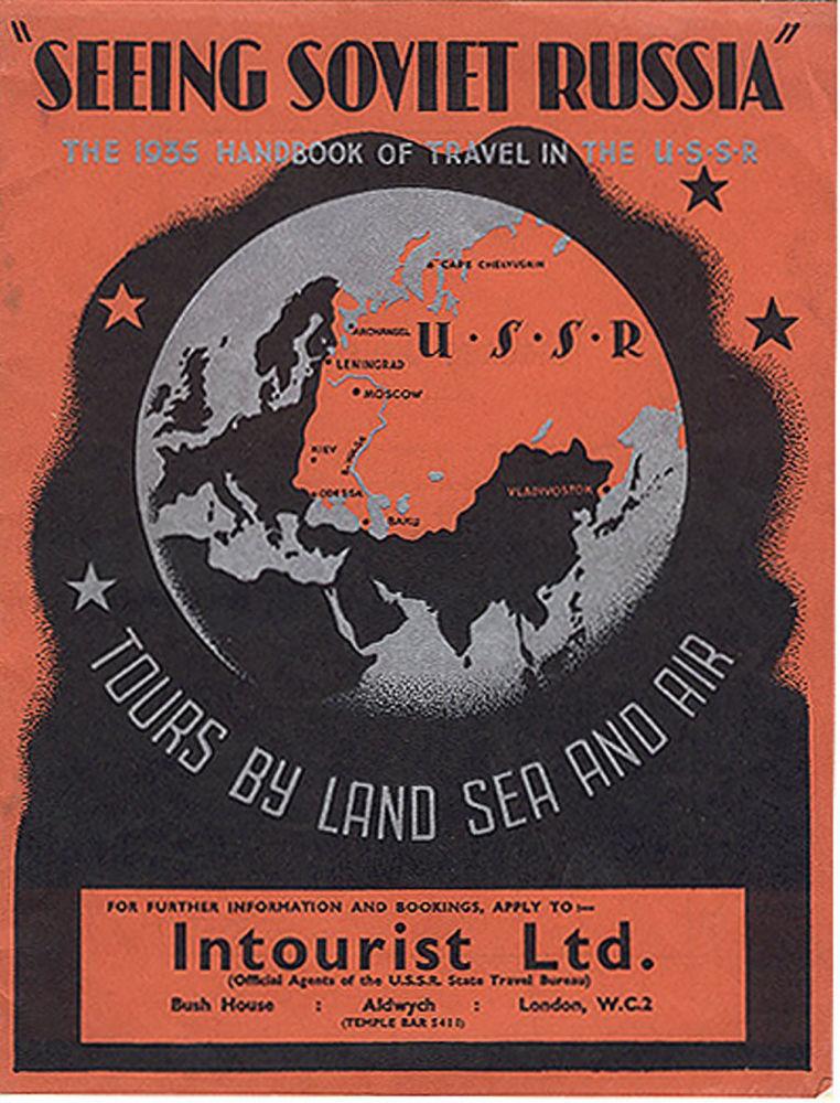 Revista turística intitulada Ver a URSS – por terra, mar e ar, datada de 1935