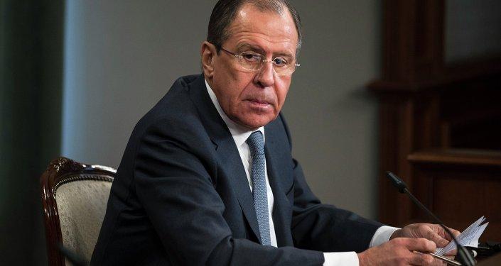 Ministro russo das Relações Exteriores, Sergei Lavrov