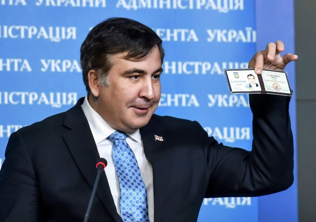 Ex-presidente da Geórgia, Mikheil Saakashvili