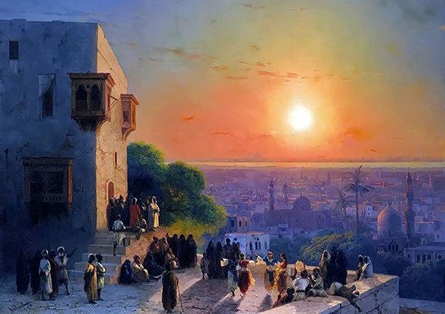 Anoitecer no Cairo, de Ivan Aivazovsky