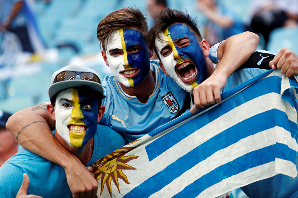 O placar garantiu a festa do uruguaios em Sochi,