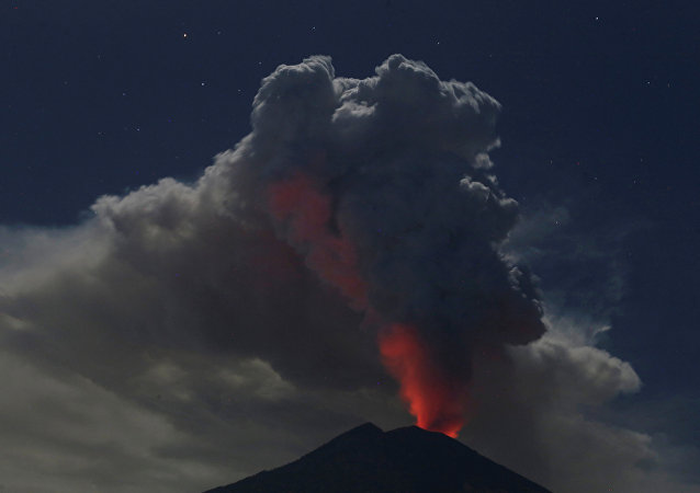 Erupção do vulcão Agung