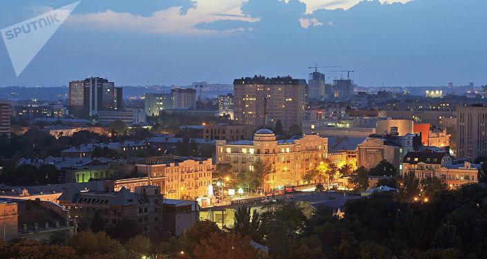Entardecer em Rostov-no-Don