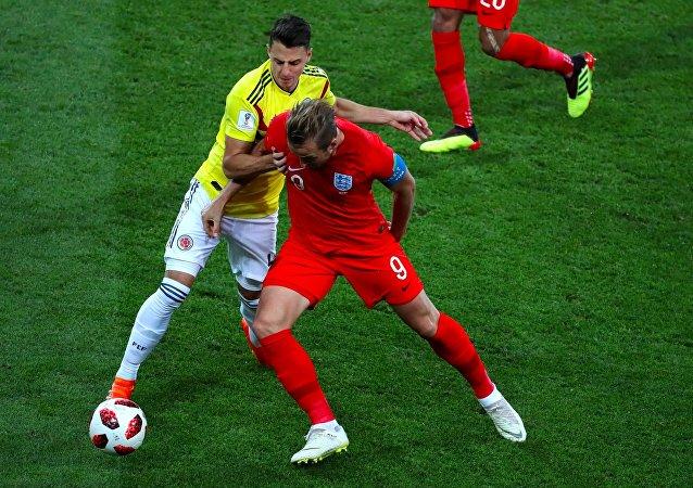 Seleção inglesa enfrentou a seleção da Colômbia