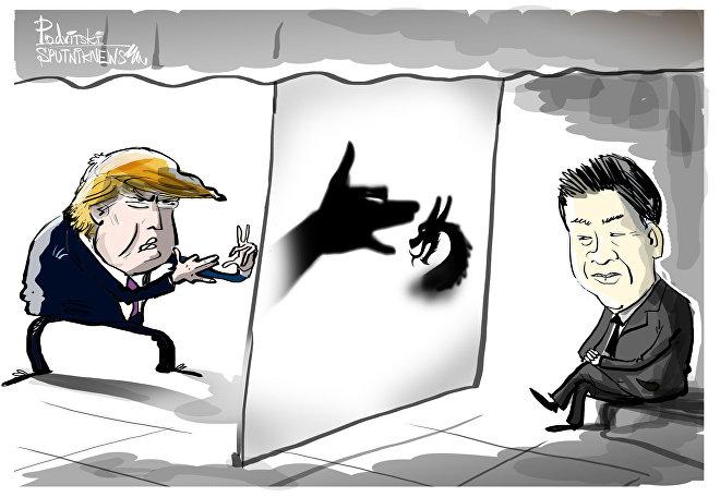 Trump acredita que no joquempô cachorro bate dragão?