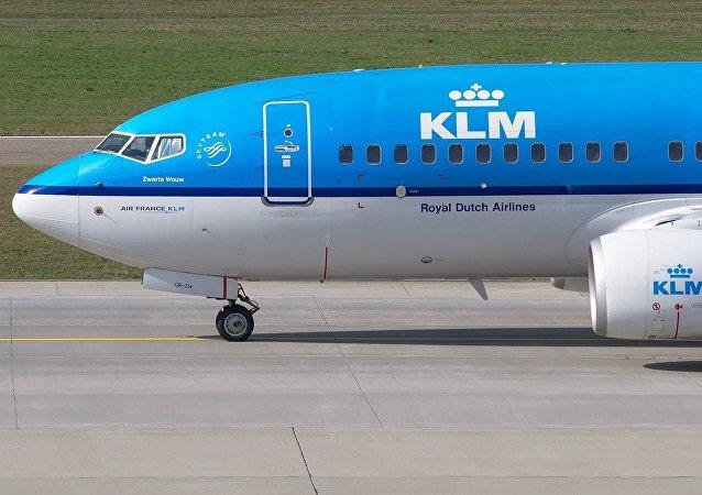 Avião da companhia aérea holandesa KLM