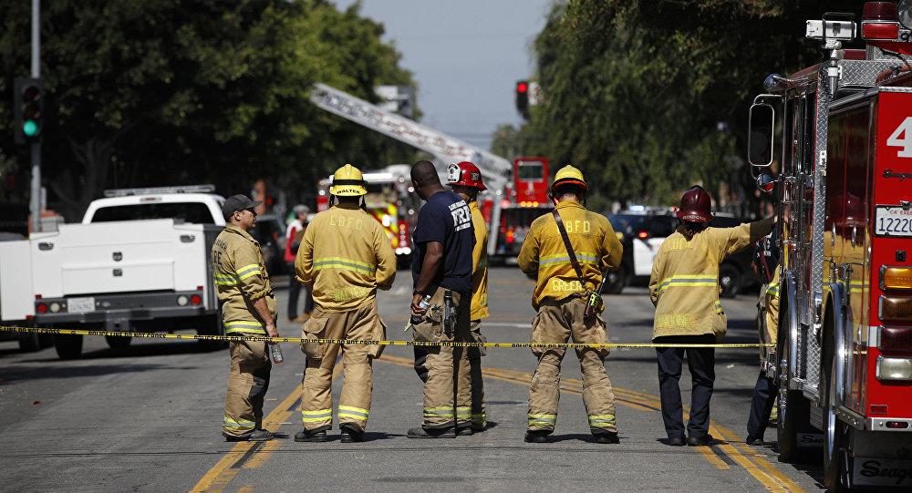 Bombeiros americanos prestando socorro em Long Beach, Califórnia, EUA, em 25 de junho de 2018 (imagem referencial)