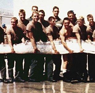 Peixe-remo pescado no litoral do Pacífico em 1996, Califórnia (foto de arquivo)