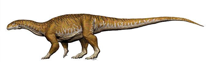 Imagem referencial do dinossauro Ingentia prima do fim do Triássico