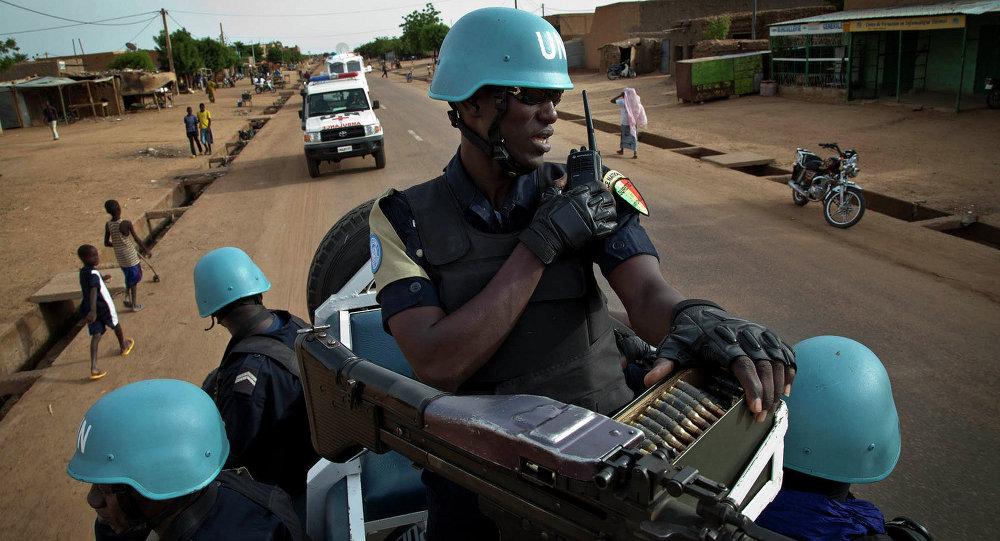 Soldados das forças de paz da ONU no Mali