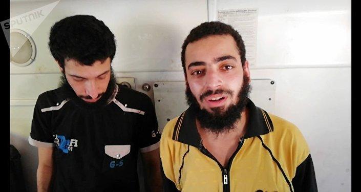 Militares sírios libertados em Daraa