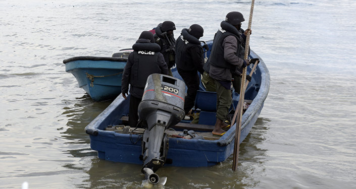 Marine police officers, Nigeria