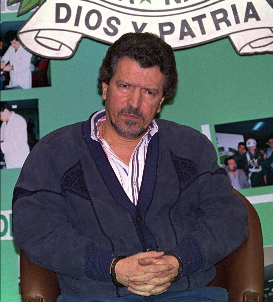 Miguel Rodriguez Orejuela liderou o Cartel de Cali. Para lavar os lucros milionários, tinha uma rede de farmácia e dois bancos. Ele foi detido em 1995 e extraditado aos Estados Unidos em 2005 - onde cumpre pena desde então.