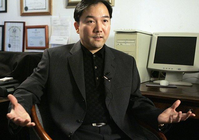 O chinês Zhenli Ye Gon no escritório de seus advogados, em Nova York, em foto de 2007.