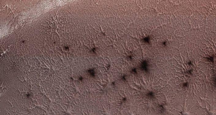 Imagem do hemisfério sul de Marte capturada pela NASA (foto de arquivo)