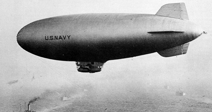 Dirigível norte-americano da classe K durante a 2ª Guerra Mundial