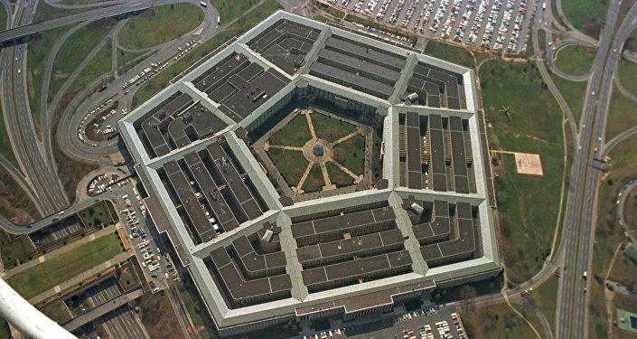 Vista aérea do Pentágono, sede do Departamento de Defesa dos Estados Unidos, em Arlington, Virgínia