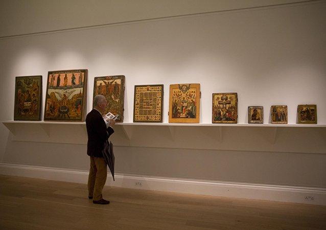 Parte da coleção russa a ser leiloada nesta terça-feira (2) na Sotheby's.