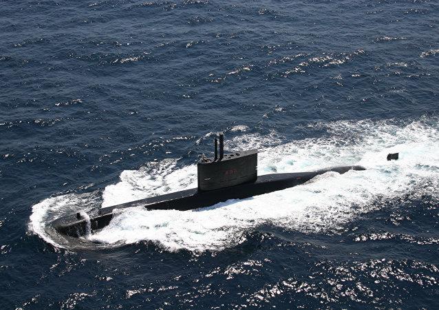 Submarinho da Marinha brasileira da classe tupi