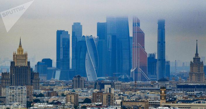 Arranha-céu do centro de negócios Moscow City, em Moscou