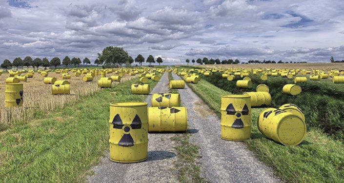 Lixo radioativo.