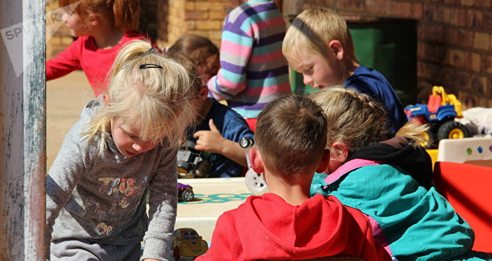 Crianças na escola em Kleinfontein