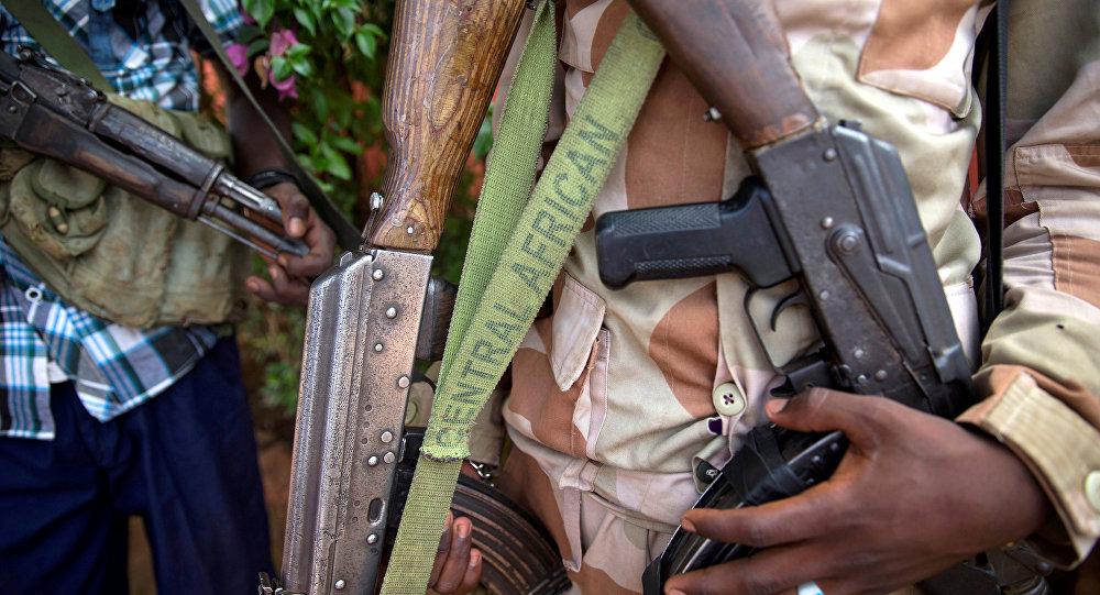 Militantes armados na cidade de Koui, República Centro-Africana, foto de arquivo