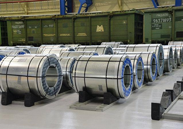 Produção da usina siderúrgica de Magnitogorsk
