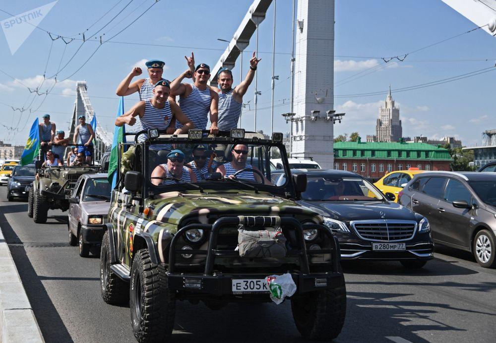 Celebrações do Dia das Forças Aerotransportadas da Rússia em Moscou