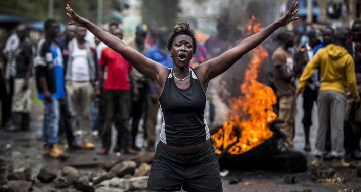 Rebeliões no Quênia, foto vencedora na categoria Notícias Principais, séries