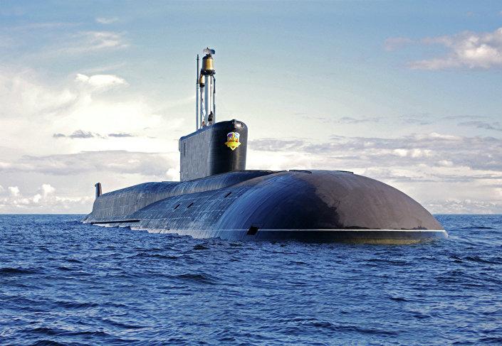 Submarino nuclear da classe Borei (imagem referencial)